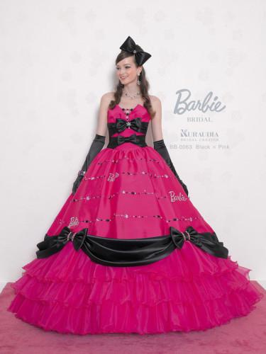バービーブライダルのカラードレスのフロント